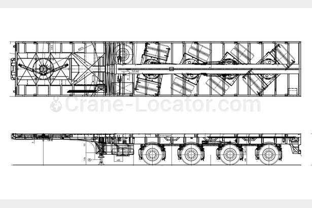Request for extendable 4-5 axle trailer, loading platform 34m+