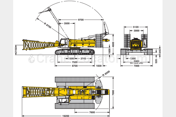 Request for Liebherr crawler crane 220 t lifting capacity