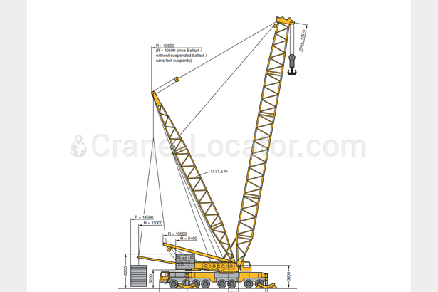 Request for mobile crane Liebherr LG1550 second-hand