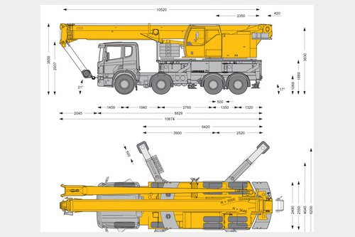 Request for  Rent  similar to - Truck mounted mobile crane Liebherr LTF 1045-4.1Crane-locator subscription is reasonable tool