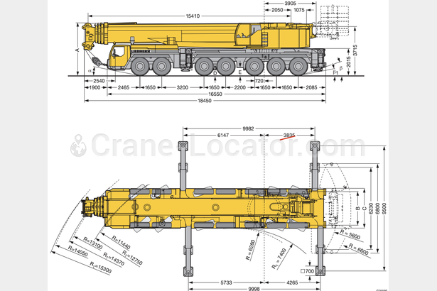 Request for  Sale  similar to - All terrain mobile crane Liebherr LTM 1400 7.1Crane-locator subscription is reasonable tool