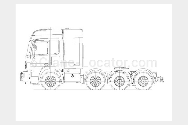 Request to purchase 8x4 Mercedes-Benz 250 t ballast truck