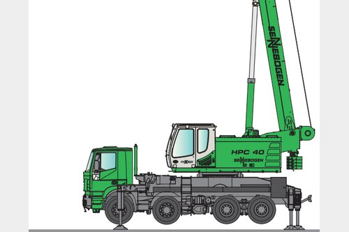 Request for  Sale  similar to - Truck mounted mobile crane Volvo FMX + Sennebogen HPC 40