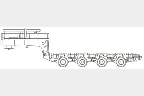 Request for second-hand modular trailer Nicolas MDE or MDED 3000 mm width
