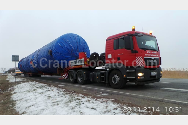 Transportation of equipment for refinery