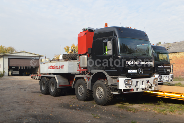 Heavy Duty Tractor Unit With Push Pull Mercedes Benz Actros 4860 Slt