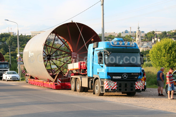 Delivery of sections of the largest  in Europe rotary kiln