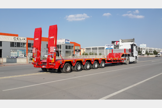 Extendable 5 axle Lowbed semi-trailers